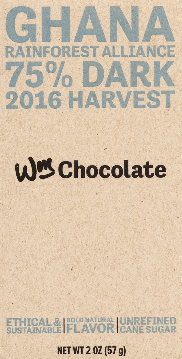 Wm. Chocolate Ghana 75% Dark Chocolate-Chocolate-The Meadow
