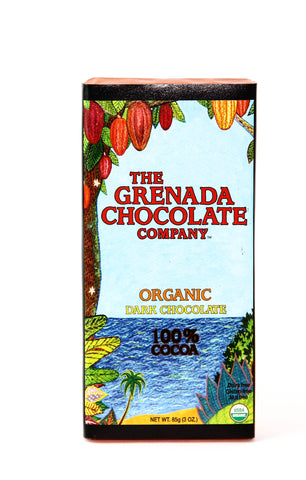 Grenada 100% Cocoa Organic Chocolate Bar