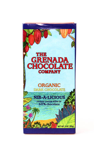 "Grenada ""Nib-A-Licious"" Dark Chocolate with Nibs-Chocolate-The Meadow"