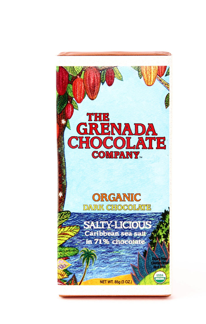 "Grenada ""Salty-licious"" Dark Chocolate with Sea Salt"
