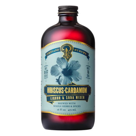 Portland Soda Works Hibiscus Cardamom Syrup-Bitters, Syrups and Shrubs-The Meadow