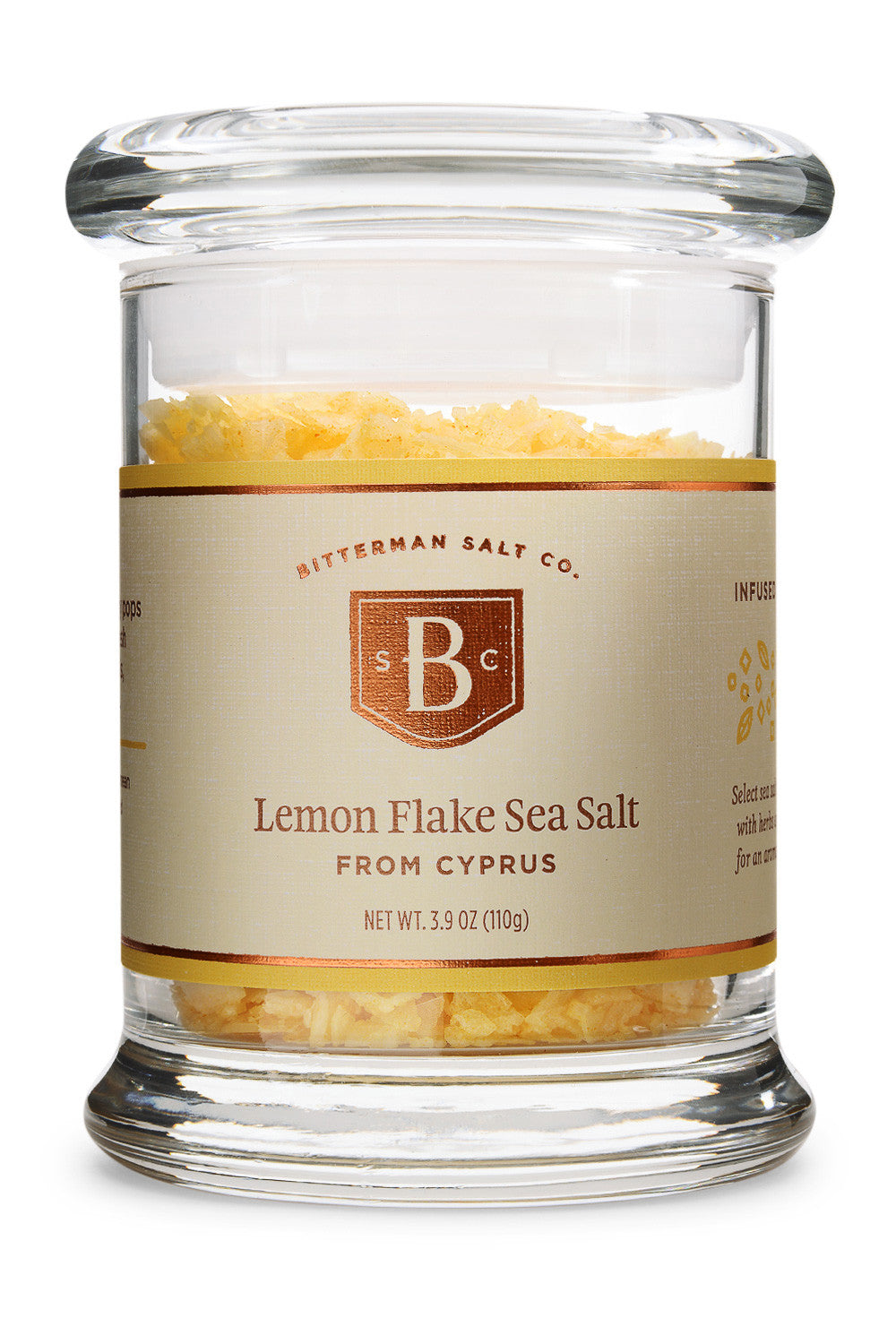 Lemon Flake Sea Salt-Gourmet Salt-The Meadow