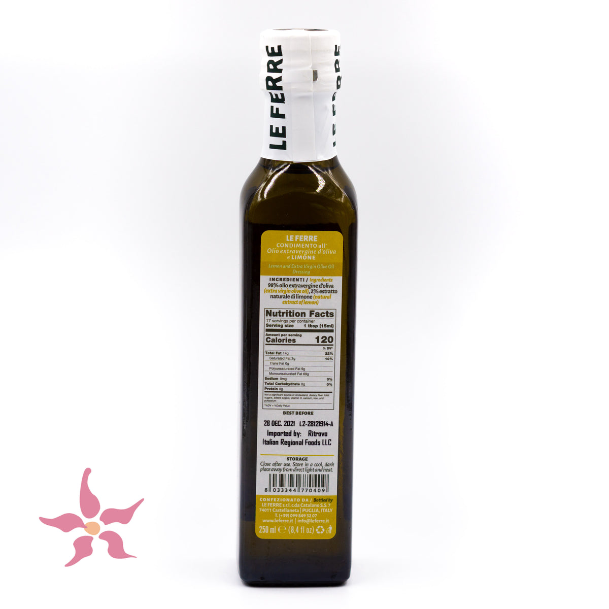 Lemon Infused Extra Virgin Olive Oil from Italy