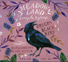 Meadowland Oregon Black Bird Marionberry Pepper Syrup