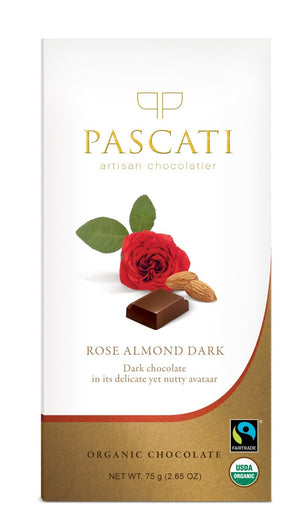 Pascati Dark Chocolate with Almond and Rose