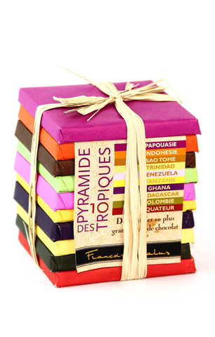Pralus Pyramide des Tropiques - Set of 10 Dark Chocolates