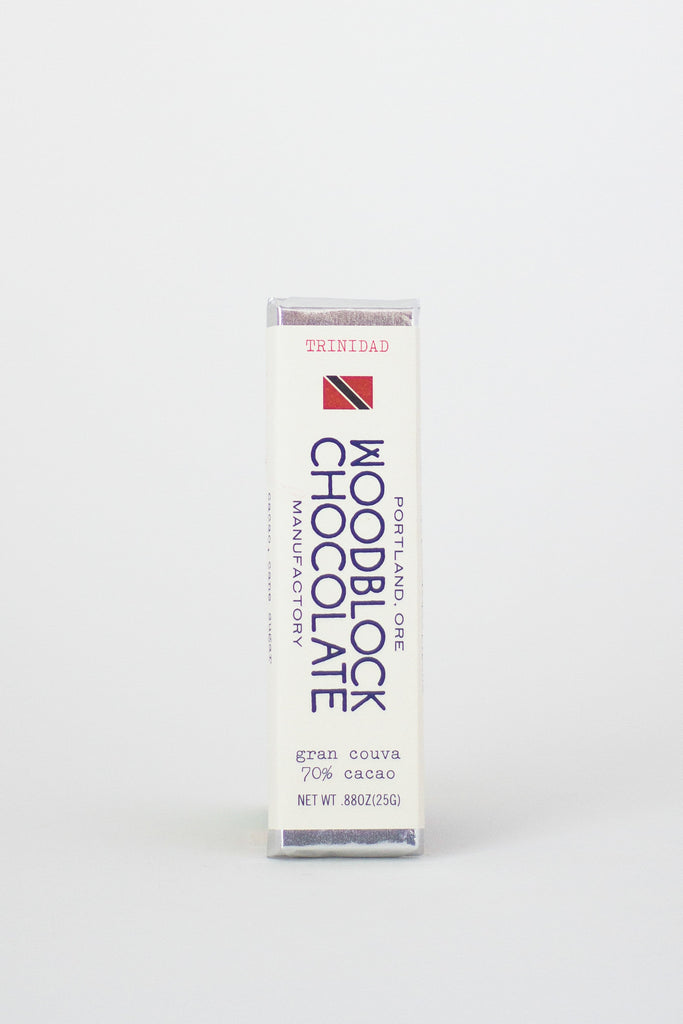 Woodblock Chocolate Trinidad 70% Dark Chocolate