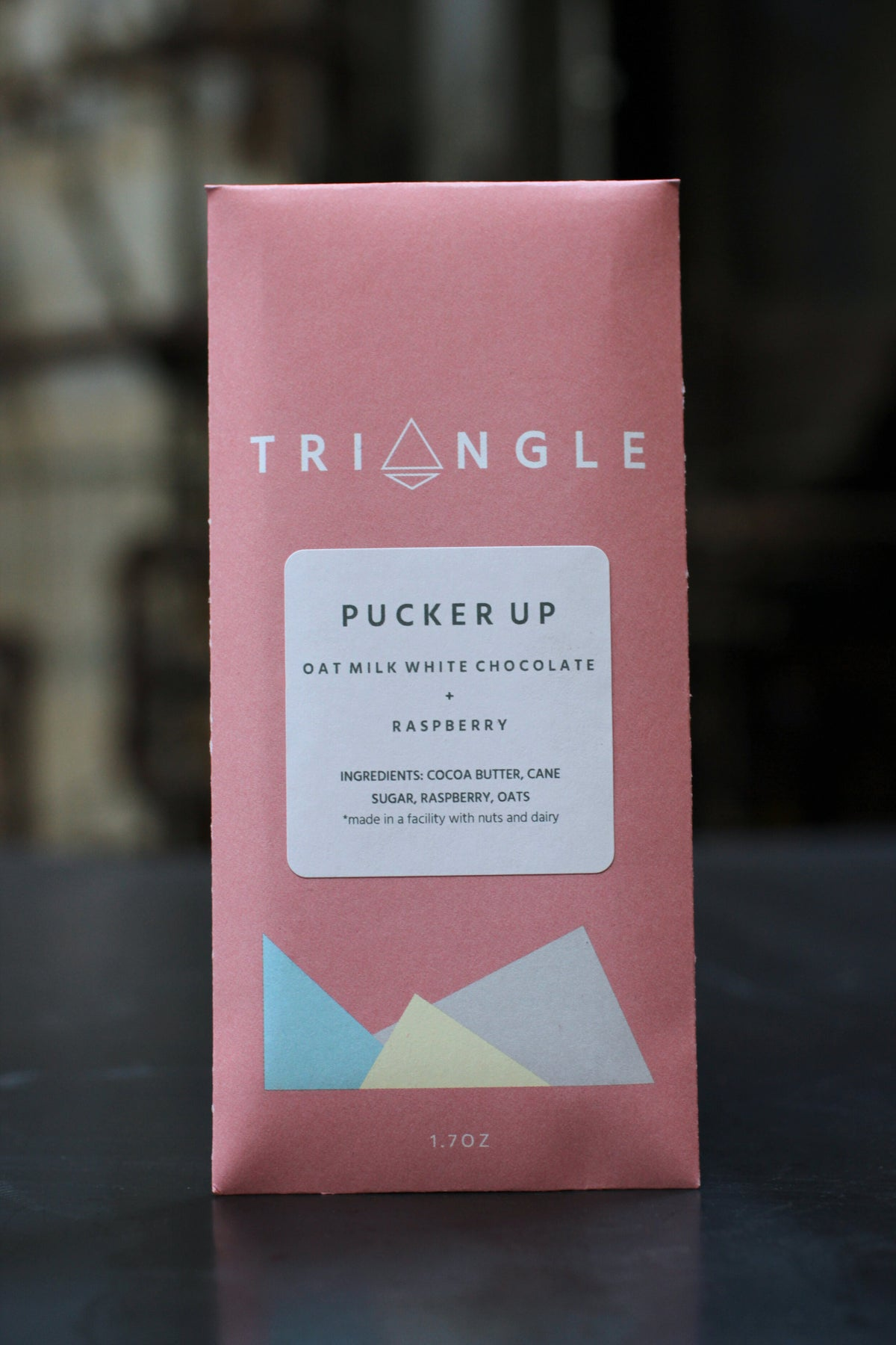 Triangle Pucker Up Oat Milk White Chocolate With Raspberries