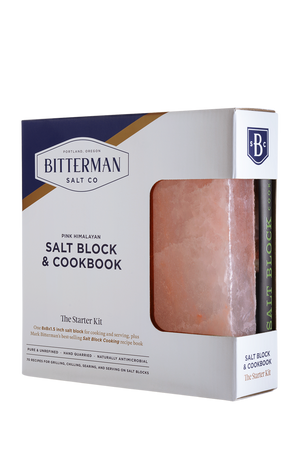 "Salt Block Cooking + 8x8x1.5"" Himalayan Salt Block Gift Set-Himalayan Salt Block-The Meadow"