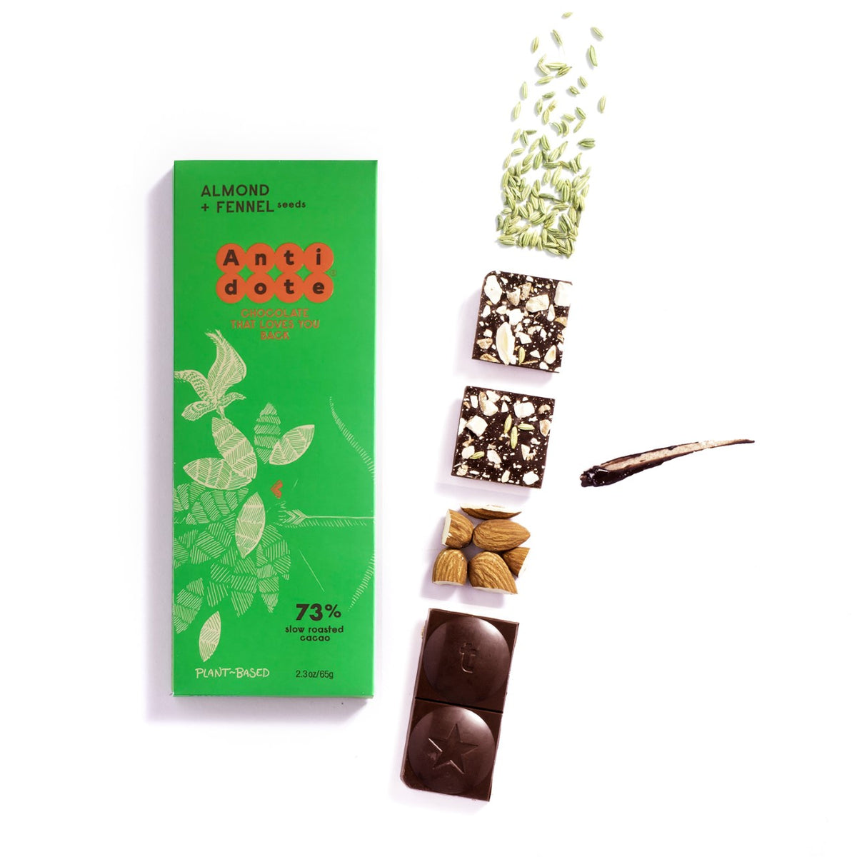 Antidote Dark Chocolate with Almond and Fennel