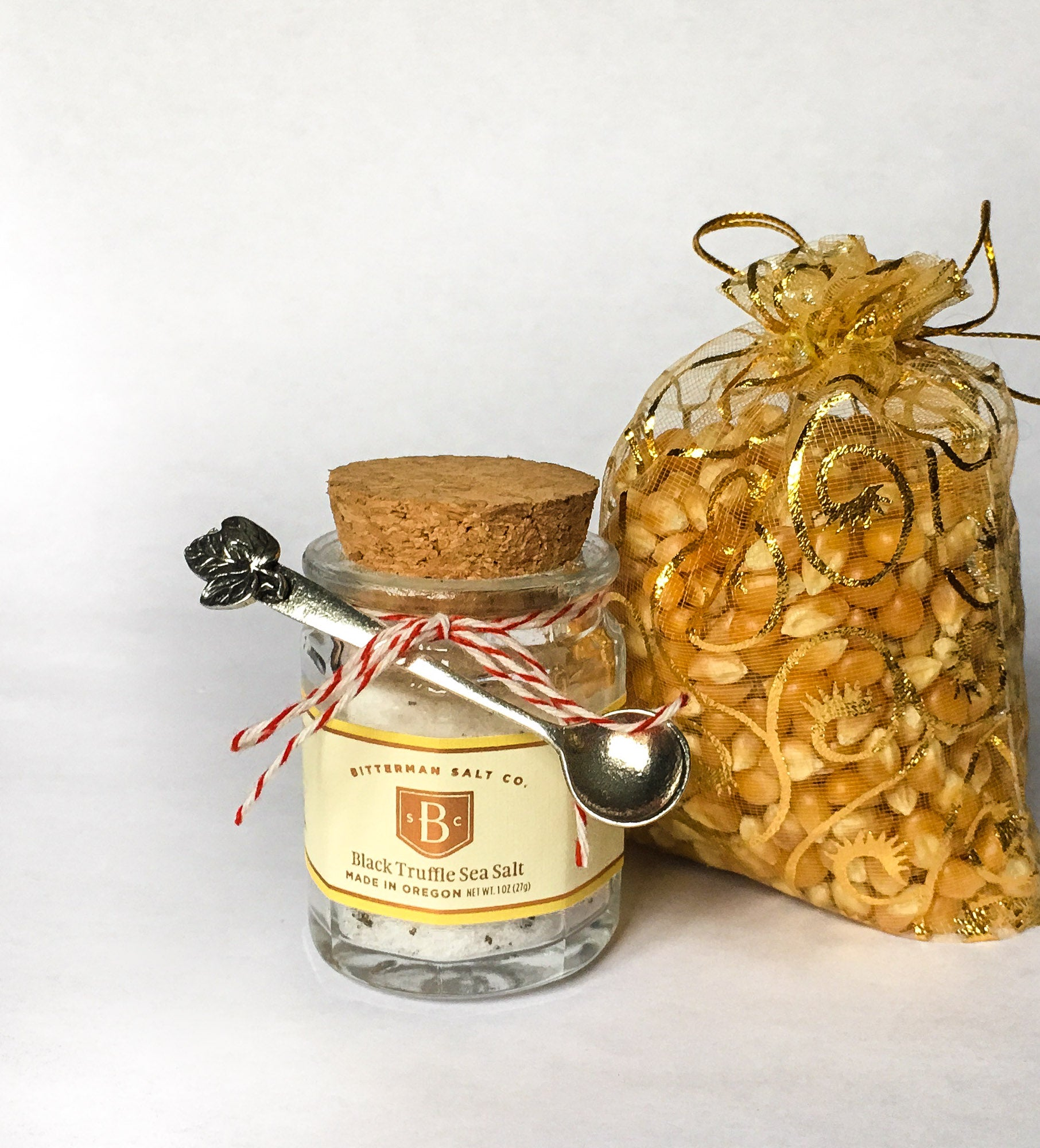 Truffle Salt and Popcorn Bundle with Pewter Salt Spoon-Gourmet Salt-The Meadow
