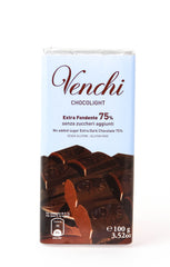 Venchi Chocolight 75% No Sugar Added Chocolate