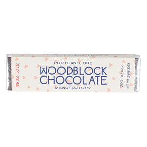"Woodblock ""True Love"" Dark Chocolate-Chocolate-The Meadow"