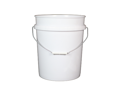 Bucket, 5 Gallon, White