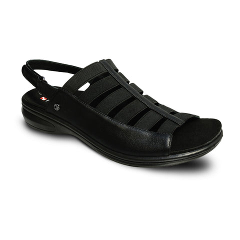Olympia Elastic Strap Sandal (Wide)