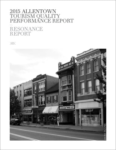 2015 ALLENTOWN TOURISM QUALITY PERFORMANCE REPORT