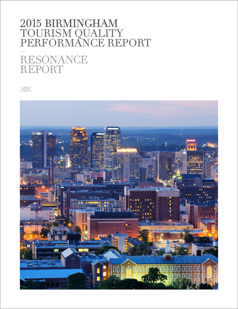 2015 BIRMINGHAM TOURISM QUALITY PERFORMANCE REPORT