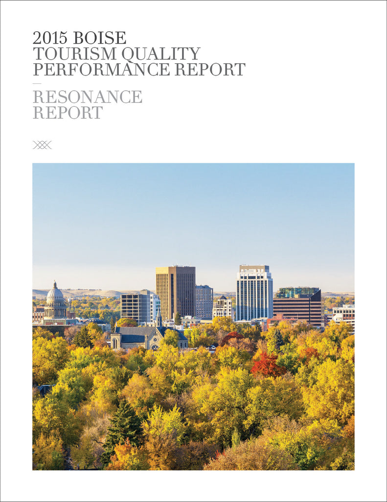 2015 BOISE TOURISM QUALITY PERFORMANCE REPORT