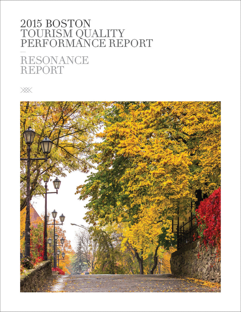 2015 BOSTON TOURISM QUALITY PERFORMANCE REPORT