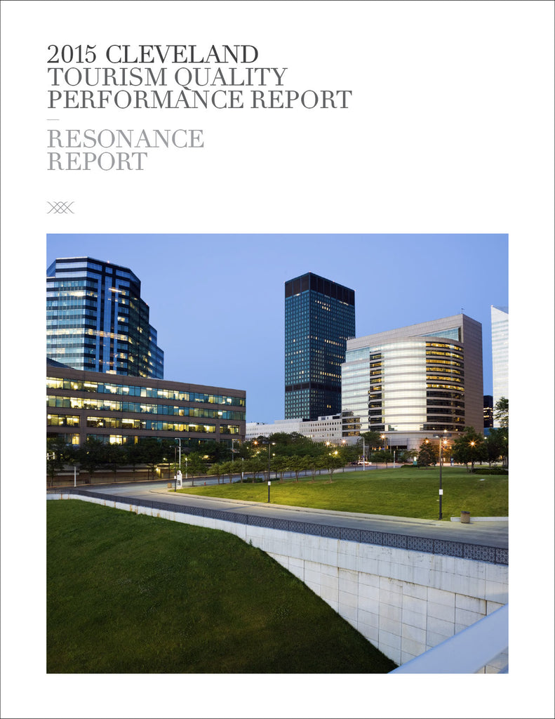 2015 CLEVELAND TOURISM QUALITY PERFORMANCE REPORT