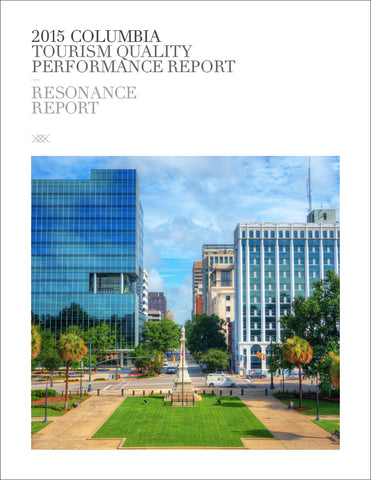 2015 COLUMBIA TOURISM QUALITY PERFORMANCE REPORT