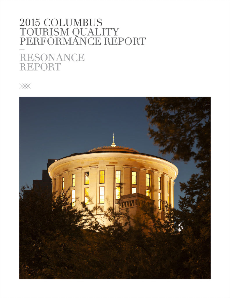 2015 COLUMBUS TOURISM QUALITY PERFORMANCE REPORT