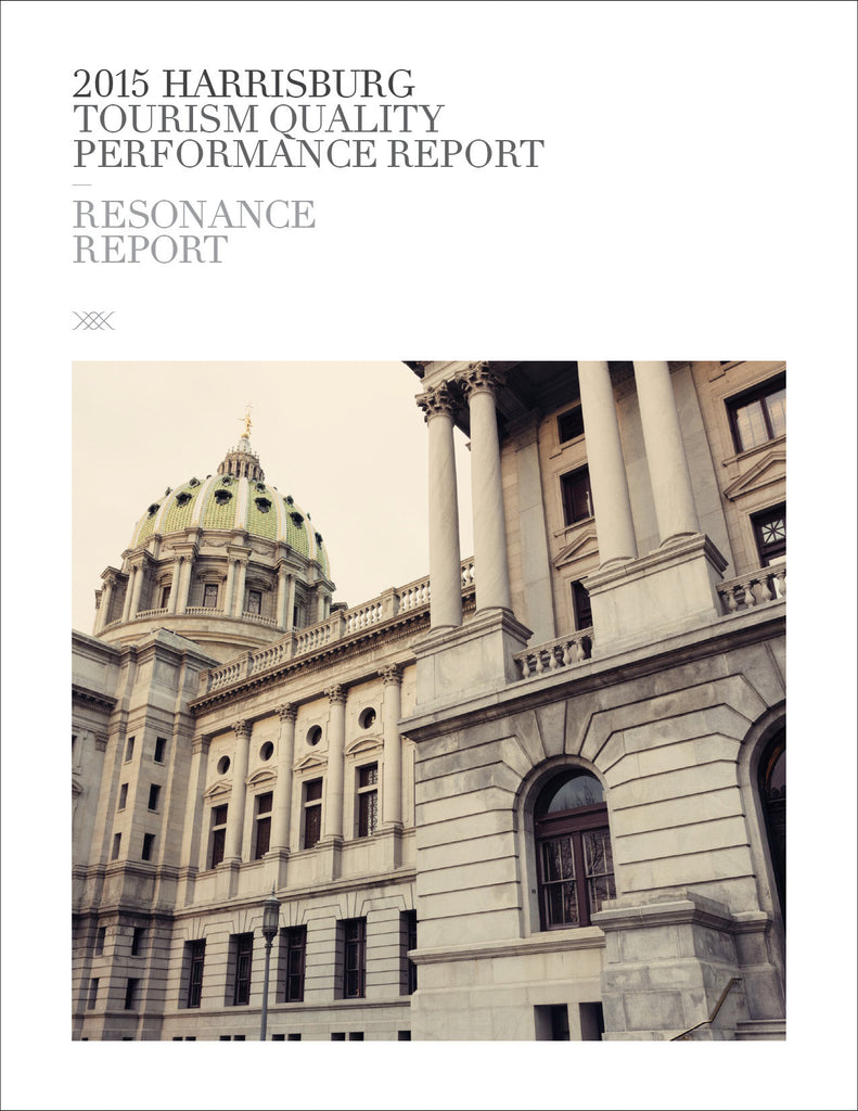 2015 HARRISBURG TOURISM QUALITY PERFORMANCE REPORT