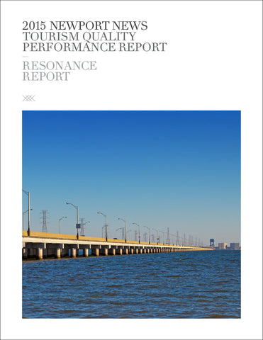 2015 NEWPORT NEWS TOURISM QUALITY PERFORMANCE REPORT