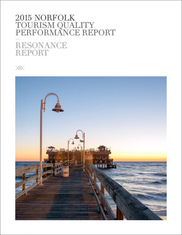 2015 NORFOLK TOURISM QUALITY PERFORMANCE REPORT