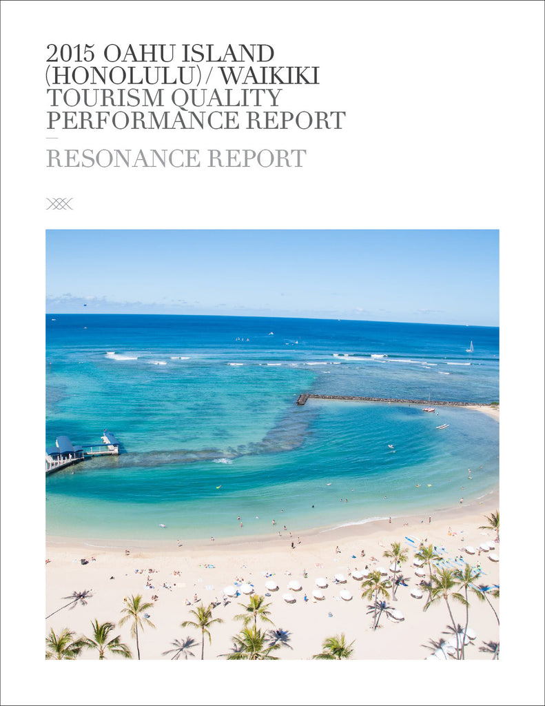 2015 OAHU ISLAND (HONOLULU)/WAIKIKI TOURISM QUALITY PERFORMANCE REPORT