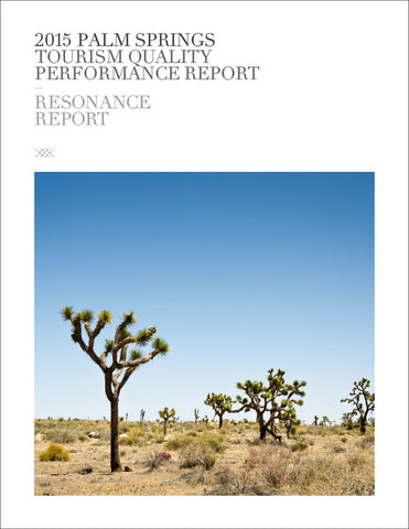 2015 PALM SPRINGS TOURISM QUALITY PERFORMANCE REPORT