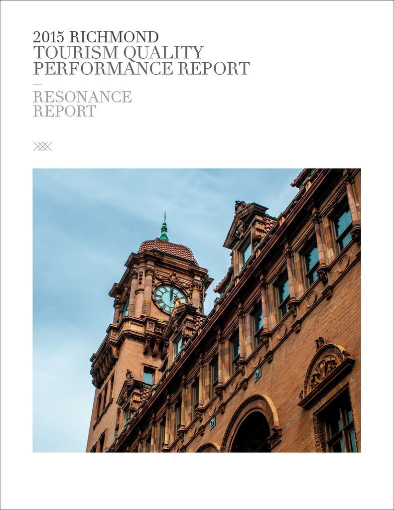2015 RICHMOND TOURISM QUALITY PERFORMANCE REPORT