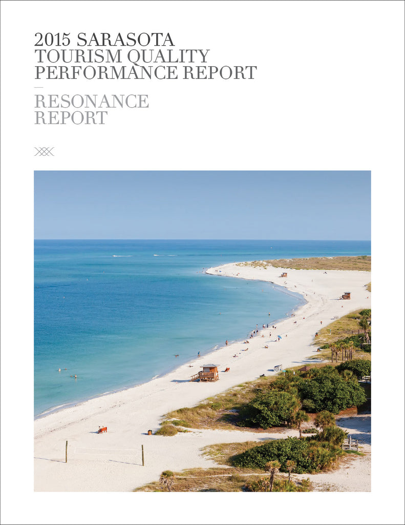 2015 SARASOTA TOURISM QUALITY PERFORMANCE REPORT