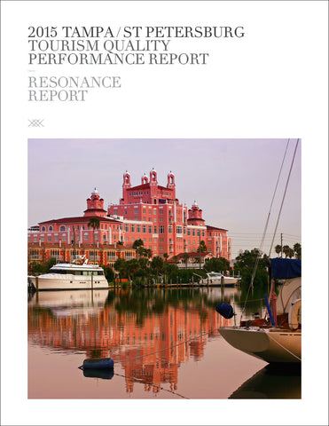 2015 TAMPA/ST PETERSBURG TOURISM QUALITY PERFORMANCE REPORT