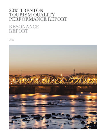 2015 TRENTON TOURISM QUALITY PERFORMANCE REPORT