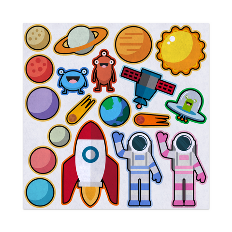 Astronaut Space Explorers, Felt Storyboard Art, Teacher Resource, Preschool, Quiet Time Toy, Imagination, Early Childhood, Educational Fun