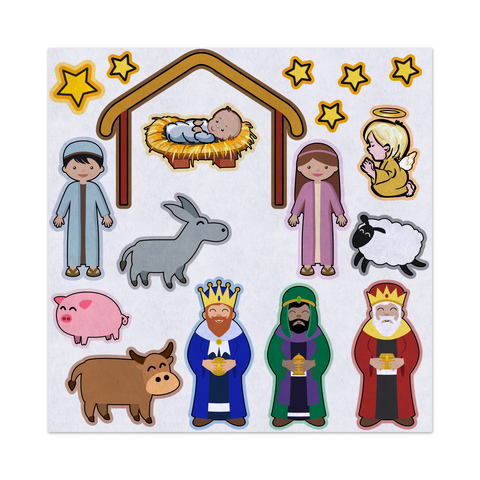 Christmas The Birth Of Jesus, Nativity, Felt Storyboard Art, Teacher Resource, Preschool, Quiet Toy, Flannel Board Set, Educational Fun