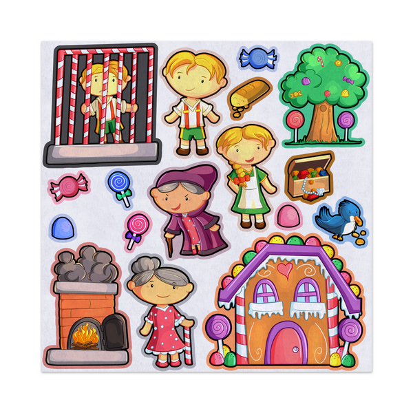 Hansel and Gretel, Storybook Adventure, Felt Storyboard Art, Teacher Resource, Preschool, Quiet Toy, Flannel Board Set, Educational Fun