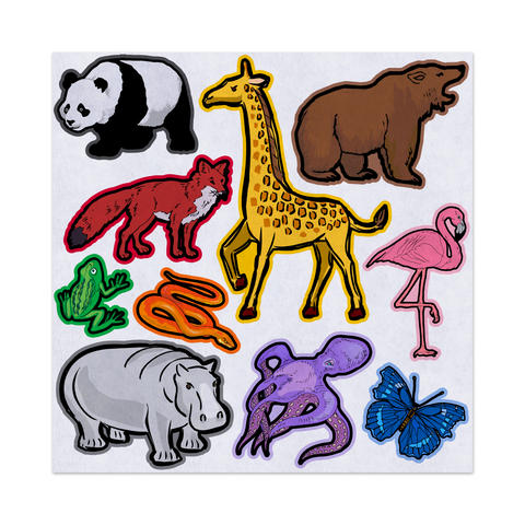 Learning Colors With Zoo Animals, Felt Storyboard Art, Teacher Resource, Preschool, Quiet Time Toy, Flannel Board Set, Educational Fun
