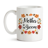 Coffee Mug, Autumn Wreath Mother Of The Groom, Autumn Groom, Wedding Party, MOTG Gift, Grooms Party, Gift Idea, Coffee Cup at GroovyGiftables.com