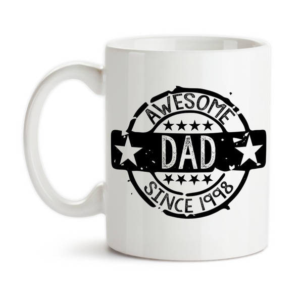 Coffee Mug, Awesome Dad Seal Of Approval, Personalized, Father's Day, Dad's Birthday, Christmas, Gift Idea, Coffee Cup at GroovyGiftables.com