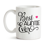Coffee Mug, Best Auntie Ever Favorite Niece Nephew Baby Announcement Pregnancy Reveal