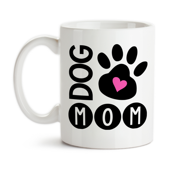 Coffee Mug, Dog Mom I Love My Dog Dog Owner Dog Lover Dog Paw Print Dog Life