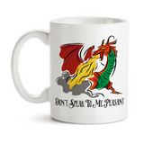 Coffee Mug, Dragon Art Don't Speak To Me Peasant Fire Breathing Dragon Before Coffee