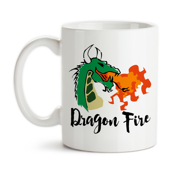 Coffee Mug, Dragon Art Dragon Fire Dragon Design Fire Breathing Dragon Before Coffee, Gift Idea, Coffee Cup at GroovyGiftables.com