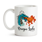 Coffee Mug, Dragon Lady, Dragon Fire, Dragon Design, Fire Breathing Dragon Before Coffee, Boss Lady