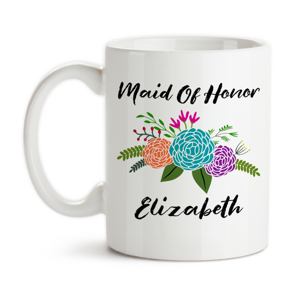 Coffee Mug, Personalized Maid Of Honor Mug 001, Wedding Keepsake, Be My Maid Of Honor