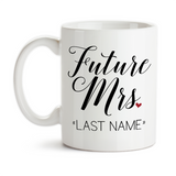 Coffee Mug, Personalized Future Mrs 001, Bride To Be, Engaged, Will You Marry Me, Wedding Announcement, Gift Idea, Coffee Cup at GroovyGiftables.com