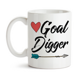 Coffee Mug, Goal Digger Hustling Work For Your Dreams Reaching Goals Boss Work Graduation Office