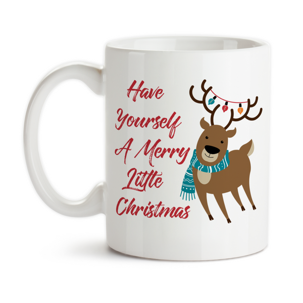 Coffee Mug, Have Yourself A Merry Little Christmas Merry Christmas Holiday Celebrate Reindeer, Gift Idea, Coffee Cup at GroovyGiftables.com